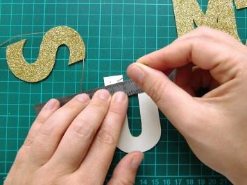 DIY - banderole de fete - wundertute lettre 2