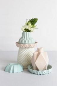 serie 2 - Ceramic vases by Lenneke Wispelwey