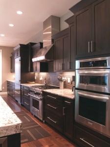 Contemporary walnut kitchen cabinets WunderWoods