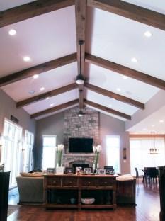 Rustic white oak box beams WunderWoods