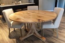 Round American elm table WunderWoods