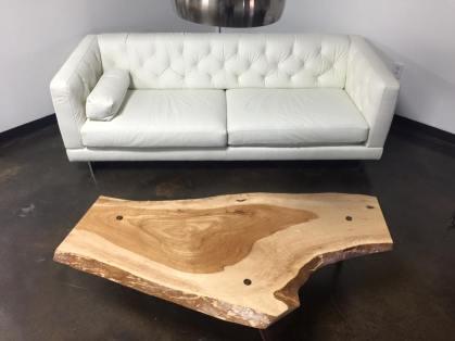 Pecan live edge coffee table Goebel WunderWoods