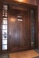 WunderWoods big walnut entry door sidelights Augusta