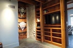 WunderWoods cherry TV cabinet open inside office Augusta