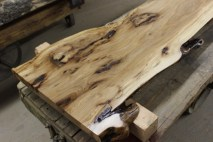 WunderWoods live natural edge funky elm table top