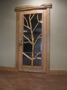 WunderWoods natural tree design cedar wine cellar door