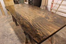 WunderWoods river recovered maple live edge top