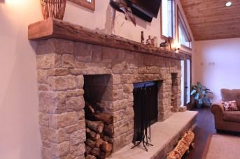 WunderWoods salvaged heart pine beam mantel