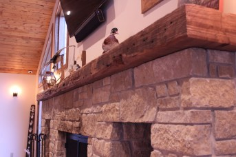 WunderWoods salvaged heart pine big long mantel
