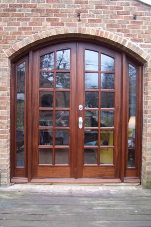 Wunderwoods sapele wood french doors front
