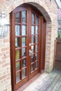 Wunderwoods sapele wood french doors side