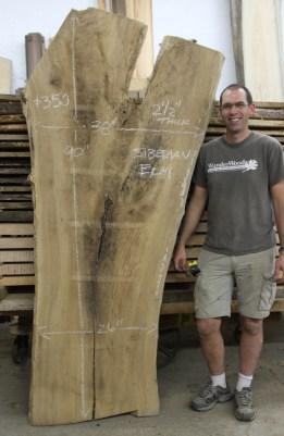 WunderWoods Siberian elm natural live edge slab table top