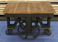 WunderWoods small antique factory cart side table