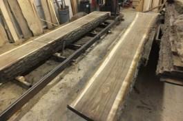 WunderWoods walnut log cut sawmill