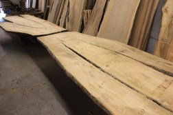 WunderWoods white pine 22' long bar top layout live natural edge