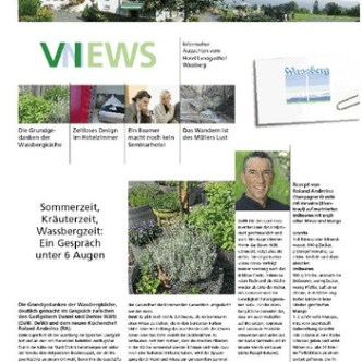 Hotel-Gastronomie: Kundenzeitschrift Wassberg Views