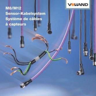 Handel: Prospekt-Cover für Sensor-Kabelsystem von Volland AG