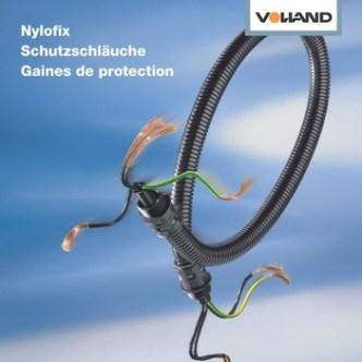 Handel: Prospekt-Cover für Schutzschläuche von Volland AG