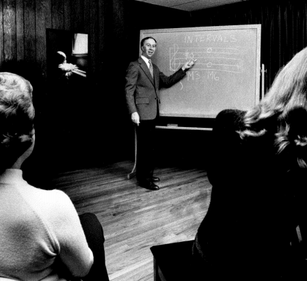 Robert French teaching theory at the Louisville Academy of Music