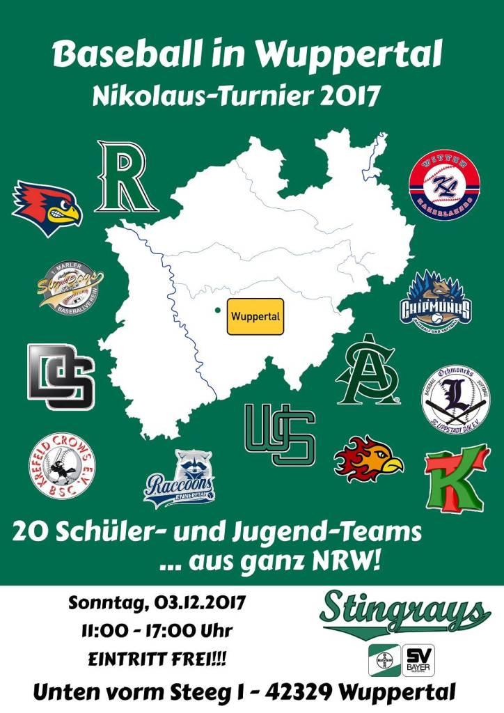 Wuppertal Stingrays Baseball Nikolausturnier 2017