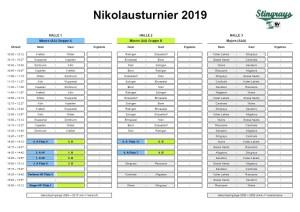 Wuppertal Stingrays Nikolausturnier 2019 Spielplan