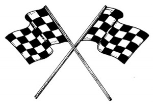 Chequered Flags are the Goal of the Racing Driver