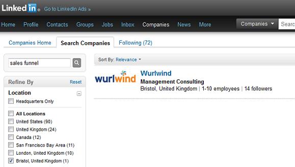 Wurlwind Sales Funnel LinkedIn Result