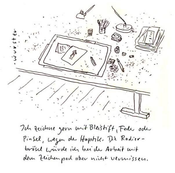 Radierbrösel Schreibtisch Zeichnen
