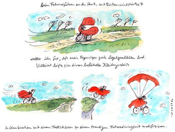 Regencape Fahrradfahren Wingsuit Wind Segeln