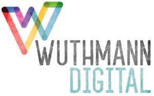 wuthmann digital logo and typeface with stylized w