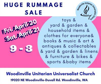 Rummage Sale [wb] – Woodinville Unitarian Universalist Church