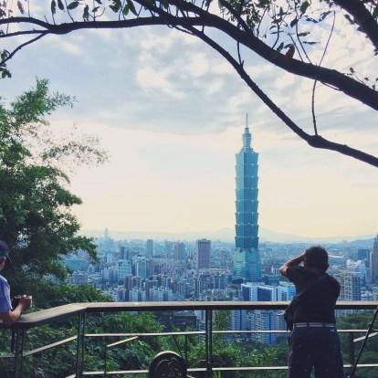 View of Taipei 101 from Xiangshan