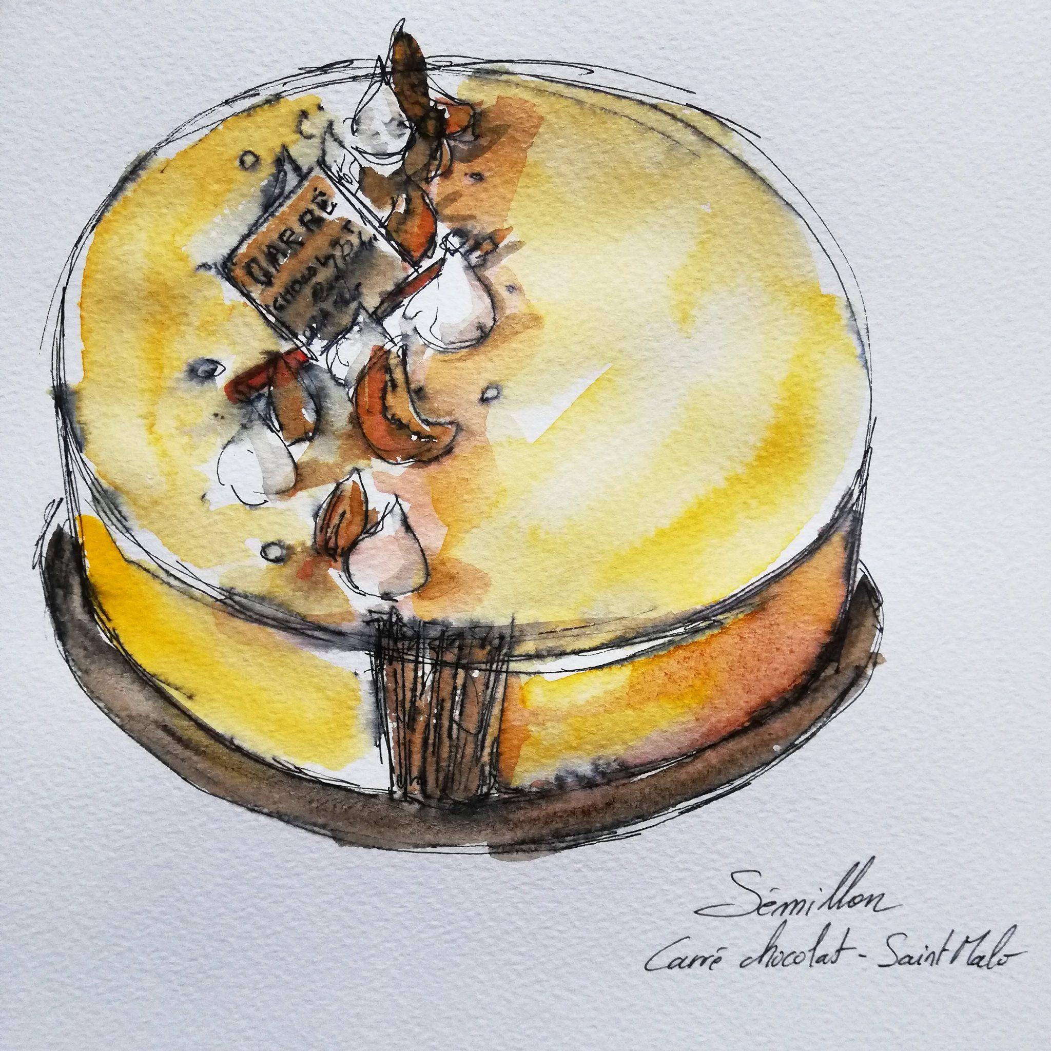 Illustration gâteau par Antoine Monnier