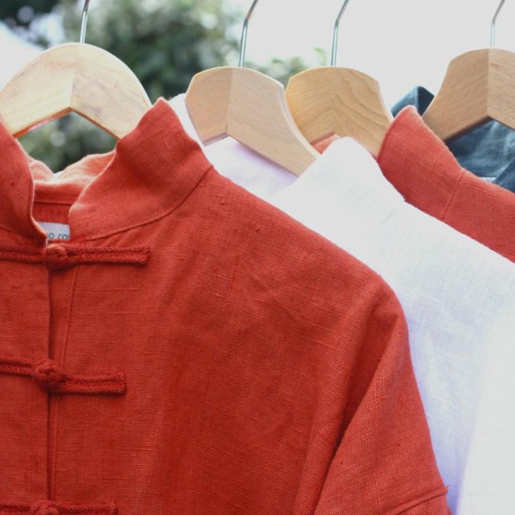 Les vestes de taiji quan et de qi gong Dao couture, en lin et cousues artisanalement en France