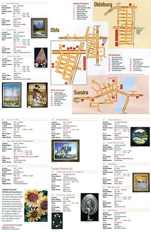 ArtWalk 2008 Map Back