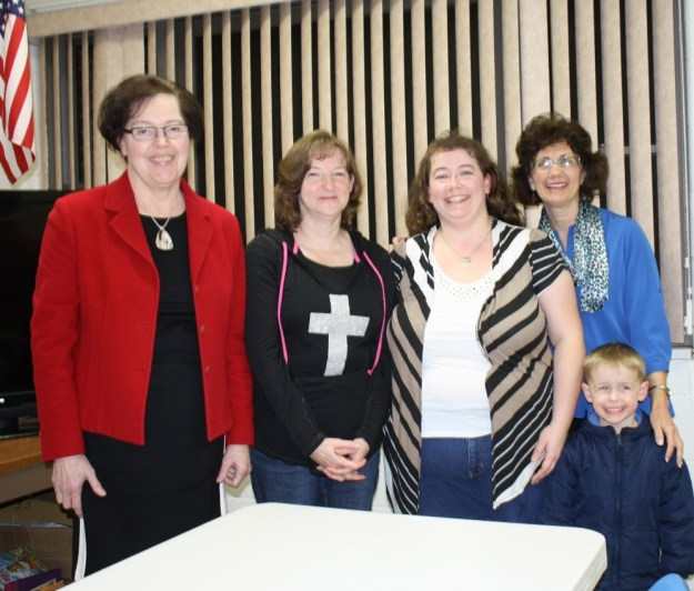 West Virginians for Life President Dr. Wanda Franz, Clay County Chapter Co-Presidents Sharil Rapp and Sheena Rapp-Leedy, WVFL Program Director Mary Anne Buchanan and Josh Leedy (one of Sheen's five children).