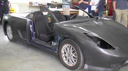 UVA Students make electric car out of totalled Jetta.