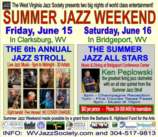 HALF PAGE AD Thursday, June 7 for 2018 SUMMER JAZZ WEEKEND