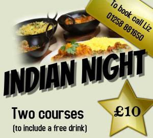 Indian Night at Winterborne Whitechurch