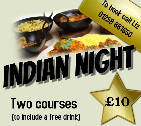 Indian Night at Winterborne Whitechurch