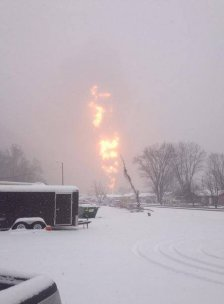 Train derailment in the area of Boomer Bottom and Adena Village leads to evacuations.  Photo Courtesy: Dan Toney