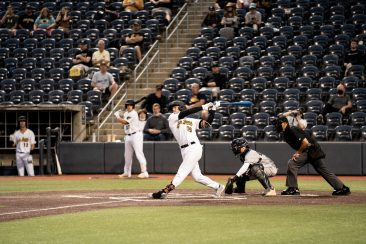 West Virginia first baseman Cooper Swanson. Logan Adams/WVSN