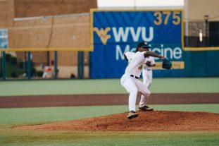 West Virginia pitcher Kevin Dowdell. Logan Adams/WVSN
