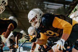 Offensive lineman Blaine Scott. WVU Athletics