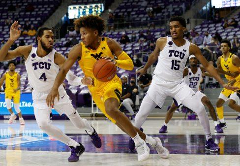 TCU vs West Virginia men's basketball at Schollmaier Arena in Fort Worth, Texas on February 23, 2021. (Photo/ Gregg Ellman)
