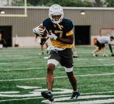 Receiver Sam Brown. WVU Athletics