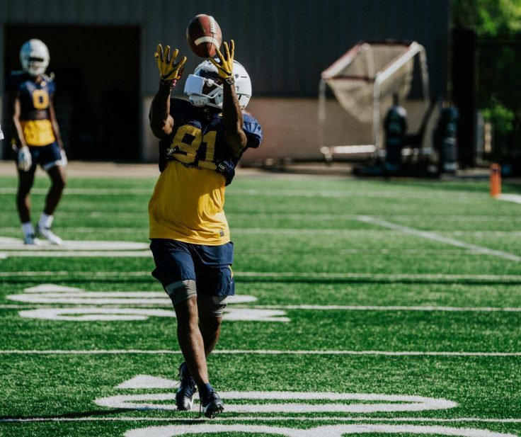 Wide receiver Zack Dobson. WVU Athletics