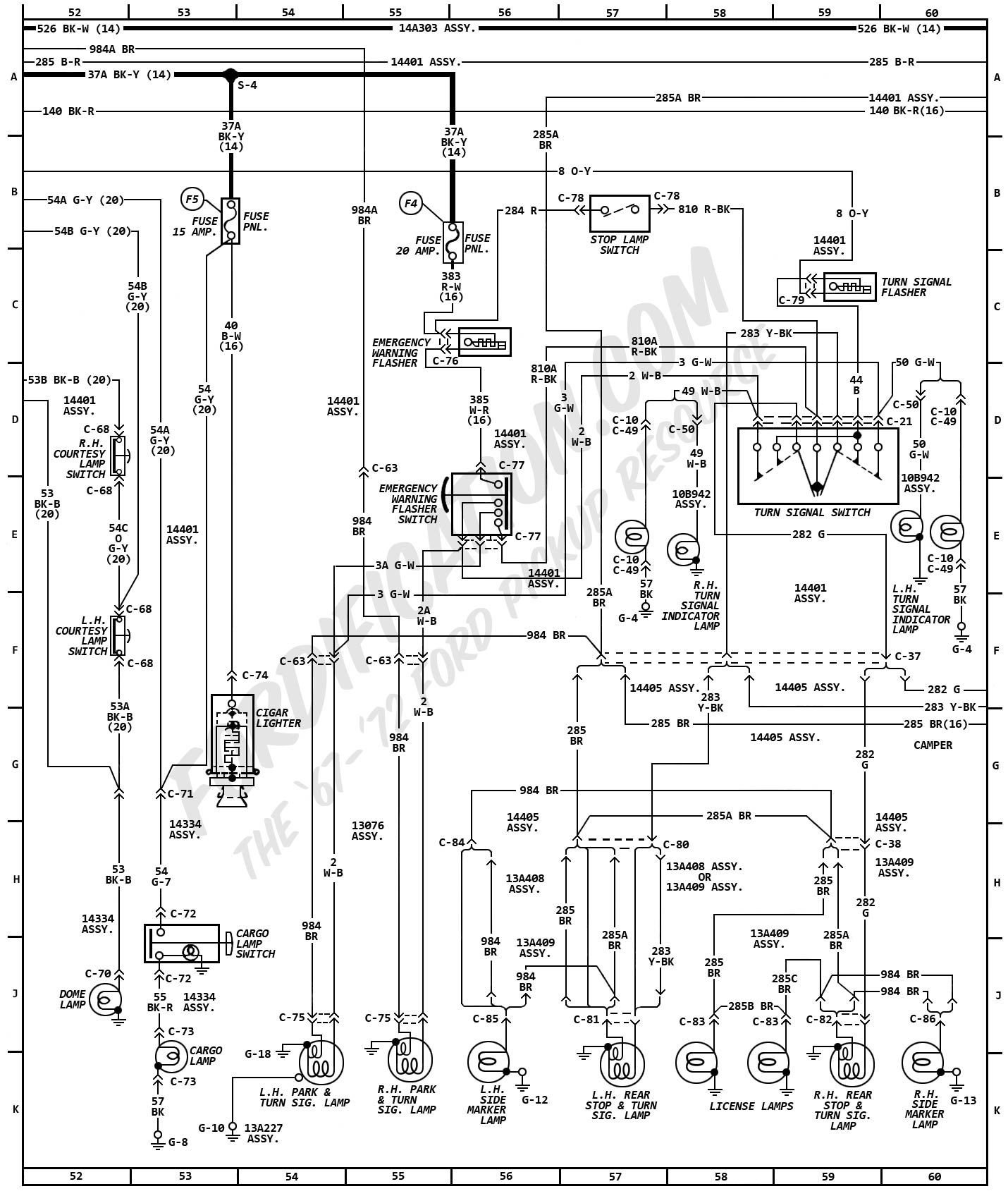 Ignition Coil Wiring Diagram besides 57 Chevy Dash Wiring Diagram in addition 1954 Ford Convertible Wiring Diagram also 1957 Chevrolet Generator Wiring Diagram together with 1968 Bel Air Wiper Wiring Diagram. on 1956 chevy bel air fuse box location