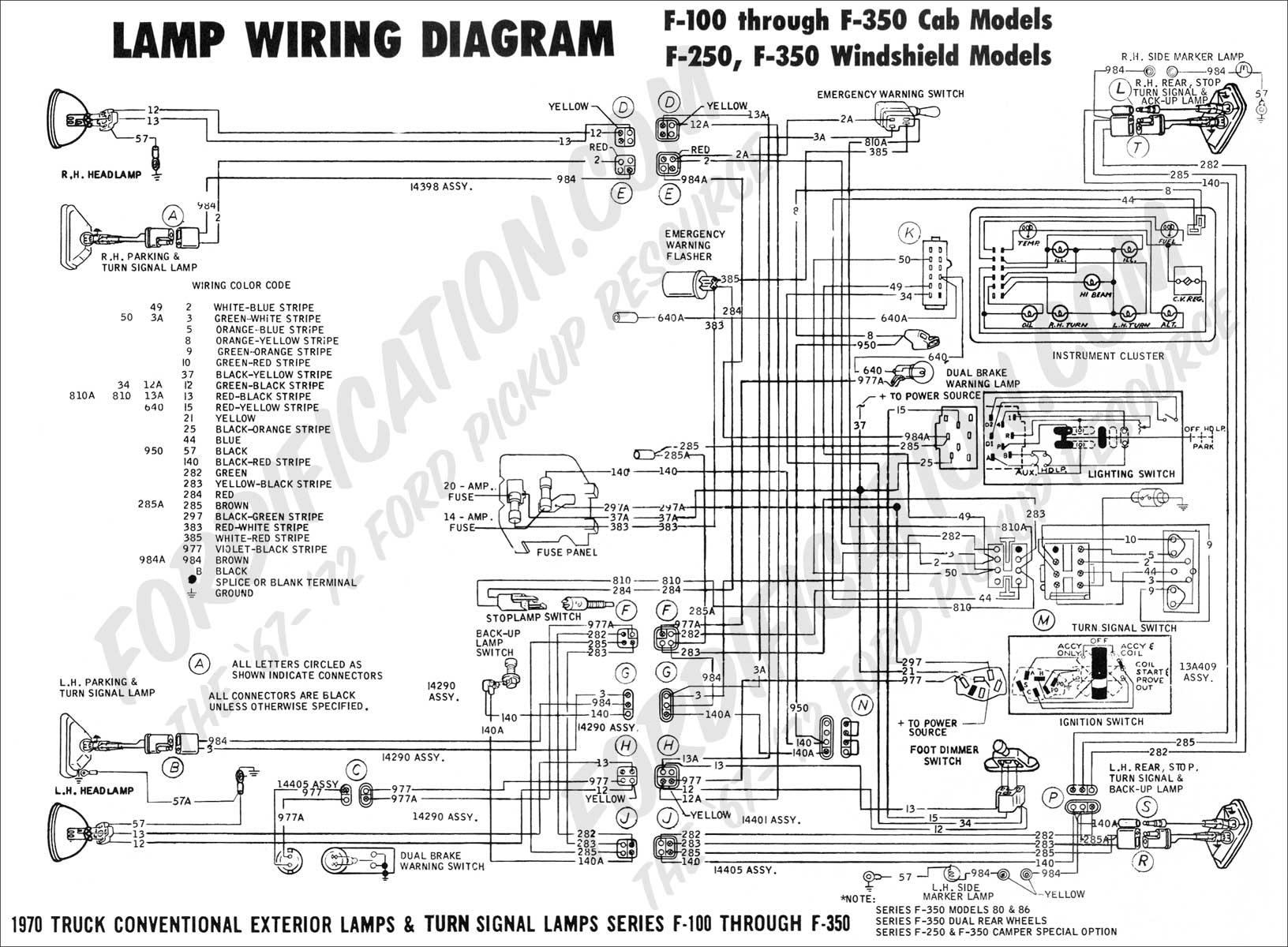 wiring diagram_70ext lights01?resized665%2C489 1994 peterbilt 379 wiring diagram efcaviation com 1970 ford f100 turn signal wiring diagram at mifinder.co