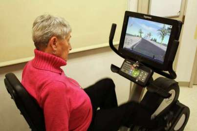 Gladys Moore, 89, a participant in a study on exergaming and older adults. (Photo provided by Union College)